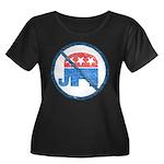 Anti GOP Plus T-Shirt (Dark Scoop Neck)