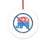 Anti GOP Keepsake Ornament (Round)