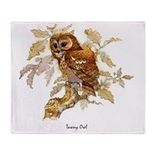 Tawny Owl Peter Bere Design Throw Blanket