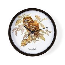 Tawny Owl Peter Bere Design Wall Clock