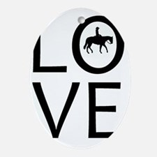 LOVE - Western Riding Oval Ornament