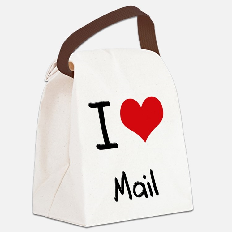 I Love Mail Canvas Lunch Bag