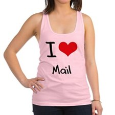 I Love Mail Racerback Tank Top