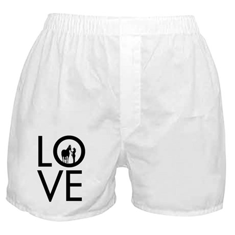 LOVE - Halter Showmanship Boxer Shorts