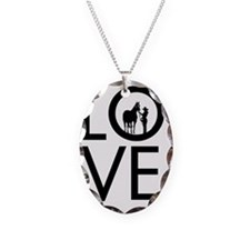LOVE - Halter  Showmanship Necklace Oval Charm
