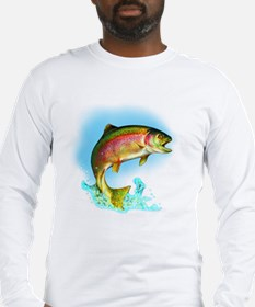 Jumping Rainbow Trout Long Sleeve T-Shirt