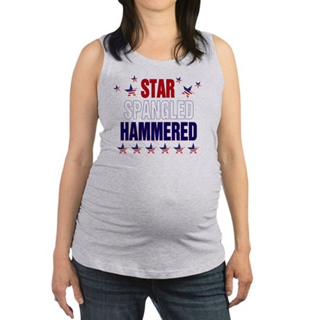 Star Spangled Hammered Maternity Tank Top
