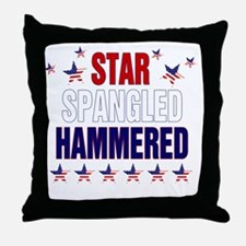 Star Spangled Hammered Throw Pillow