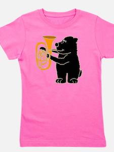 Black Bear Playing Tuba Girl's Tee