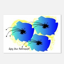 Blue Floral Postcards (Package of 8)