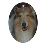 Collie Oval Ornaments