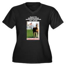 HR 503 Women's Plus Size V-Neck Dark T-Shirt
