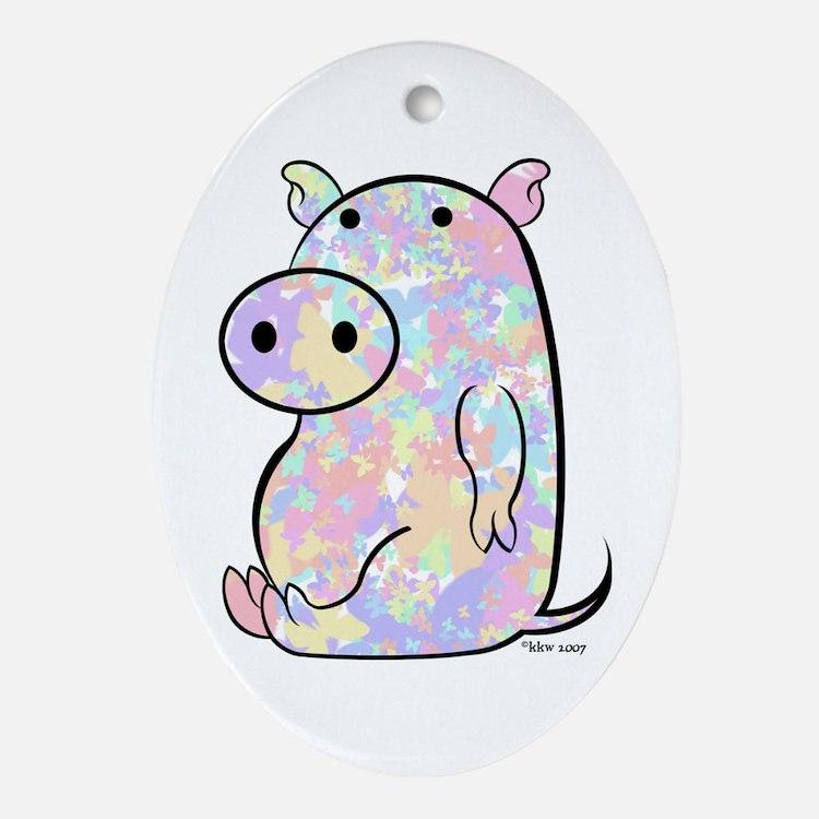 PIGGY Oval Ornament