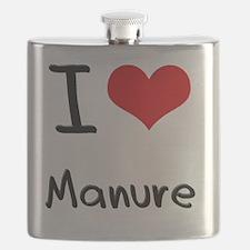 I Love Manure Flask