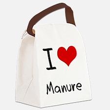 I Love Manure Canvas Lunch Bag