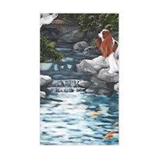 At the Koi Pond Decal