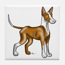 Ibizan Hound Illustration Tile Coaster