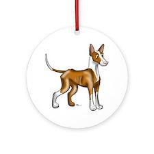 Ibizan Hound Illustration Round Ornament