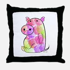 ROSEY PIG Throw Pillow