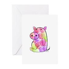 ROSEY PIG Greeting Cards (Pk of 10)