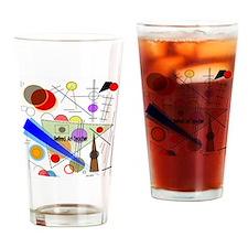 Retired ARt TEacher funky all over Drinking Glass