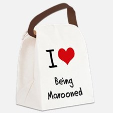 I Love Being Marooned Canvas Lunch Bag