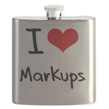 I Love Markups Flask