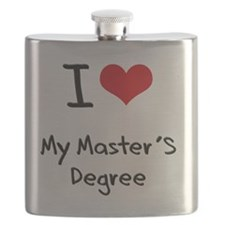 I Love My Master'S Degree Flask