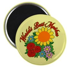 "Best Mother Floral 2.25"" Magnet (10 pack)"