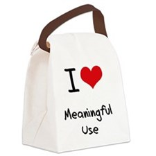 I Love Meaningful Use Canvas Lunch Bag
