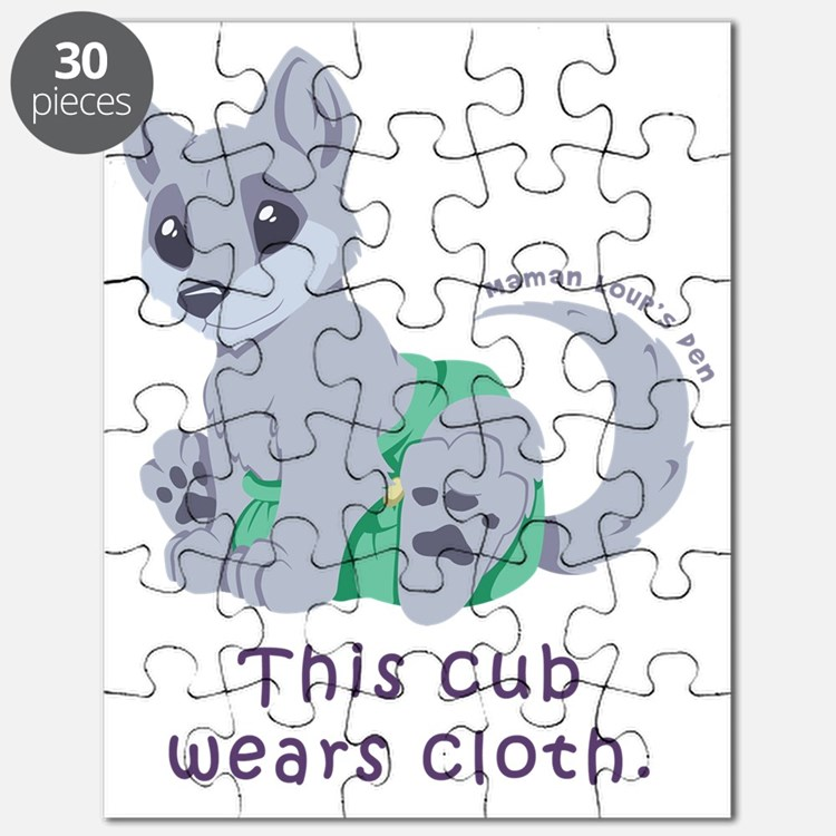 This cub wears cloth 2 (purple) Puzzle