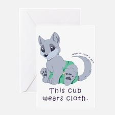 This cub wears cloth 2 (purple) Greeting Card