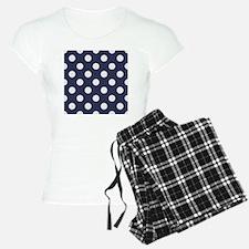 blue with big white dots Pajamas