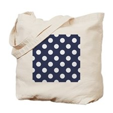 blue with big white dots Tote Bag