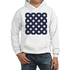 blue with big white dots Hoodie