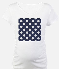 blue with big white dots Shirt