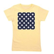 blue with big white dots Girl's Tee