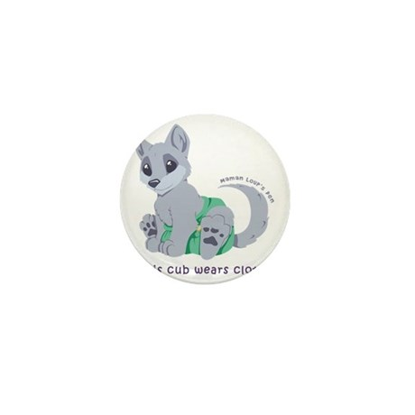 This cub wears cloth 1 (purple) Mini Button