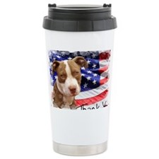 Thank You Pitbull Puppy Travel Mug