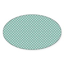 green with little white dots 2 Decal