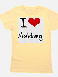 I Love Melding Girl's Tee
