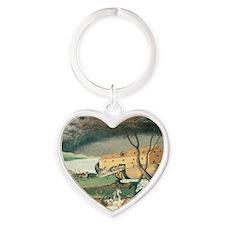 Noahs Ark Heart Keychain