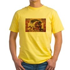 Mayan Embrace T-Shirt (yellow)