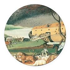 Noahs Ark Round Car Magnet