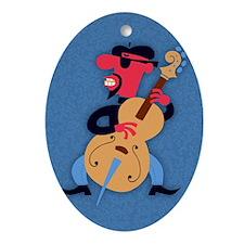 beatnik-bass-STKR Oval Ornament