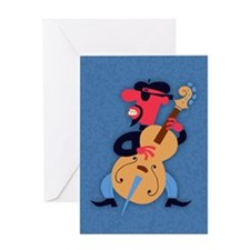 beatnik-bass-STKR Greeting Card