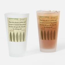 Retired Teacher quote Aristotle Bla Drinking Glass