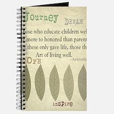 Retired Teacher quote Aristotle Blanket 2 Journal