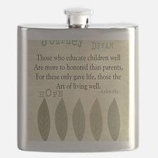 Retired Teacher quote Aristotle Blanket 2 Flask