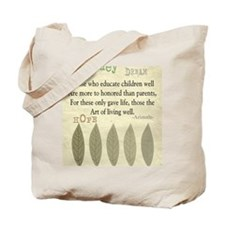 Retired Teacher quote Aristotle Blanket 2 Tote Bag